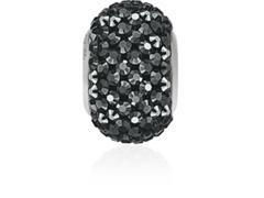 Becharmed Pavé decorado com cristais da Swarovski® Jet Hematite