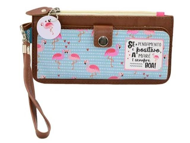 Carteira Slim Mood Flamingo
