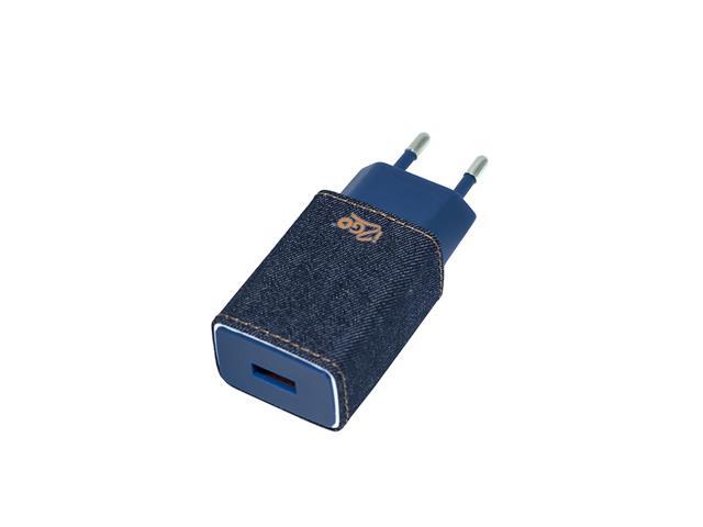 Tomada Carregador de Parede i2GO Jeans 2.4 Amps