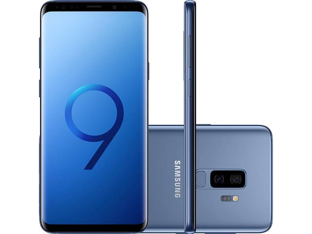 "Smartphone Samsung Galaxy S9+ 4G Dual Chip Tela 6.2"" 128GB 12MP Azul"