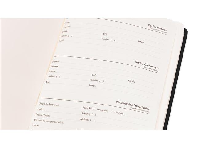 Caderneta de Anotações com Pen Drive 4gb 21x14cm Preto 80 Fls - 1