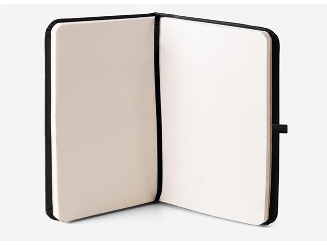 Caderneta Preta 80 Folhas e Marca Página Com 5 Cores - 1