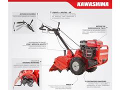 Motocultivador KWS MRG-745  Kawashima 7HP Gasolina - 1