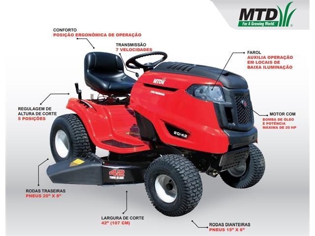 Trator Cortador de Grama 77KS MTD 20HP B&S 656CC - 1