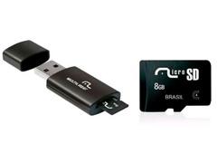 Pen Drive com Multilaser Cartão de Memória 8Gb