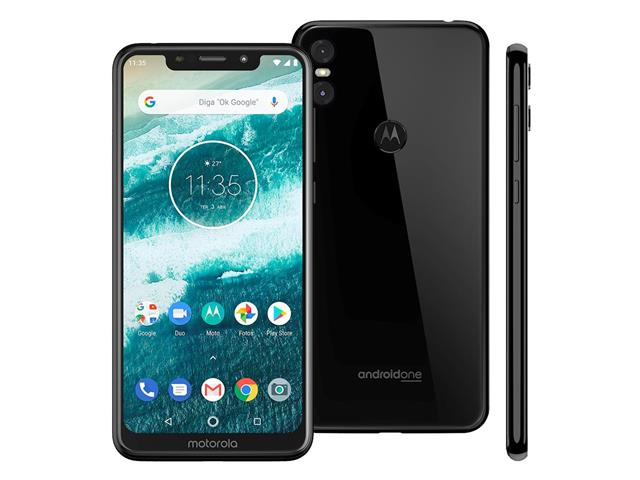 "Smartphone Motorola One 64GB Dual Tela 5.9"" 4G Câmera 13 + 5MP Preto - 1"