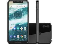 "Smartphone Motorola One 64GB Dual Tela 5.9"" 4G Câmera 13 + 5MP Preto"