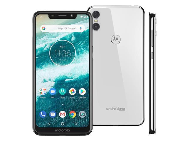"Smartphone Motorola One 64GB Dual Tela 5.9"" 4G Câmera 13 + 5MP Branco - 1"