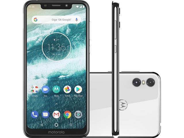 "Smartphone Motorola One 64GB Dual Tela 5.9"" 4G Câmera 13 + 5MP Branco"