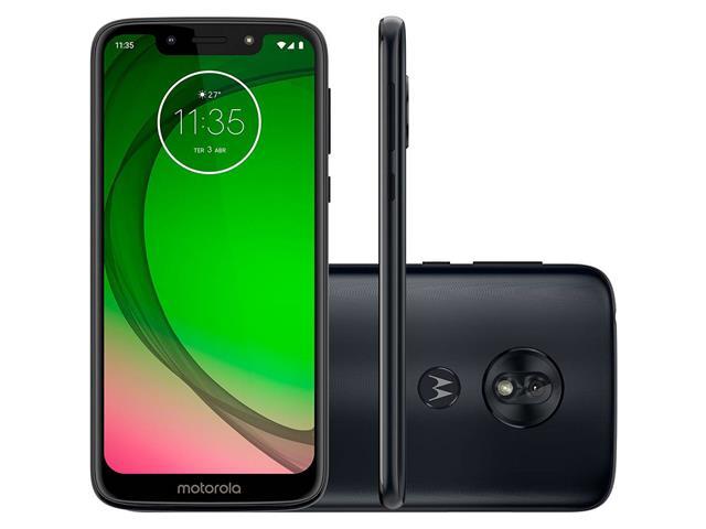 "Smartphone Motorola Moto G7 Play 32GB Dual Tela 5.7""Câm 13MP 4G Indigo"