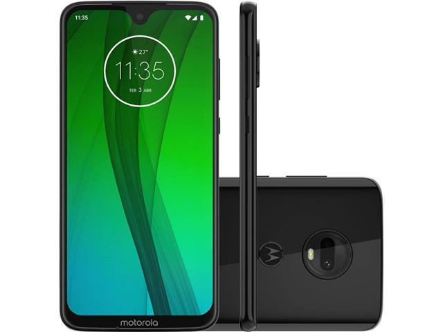 "Smartphone Motorola Moto G7 64GB 4GB Tela 6.2'"" Dual Câm 12 + 5MP Ônix"