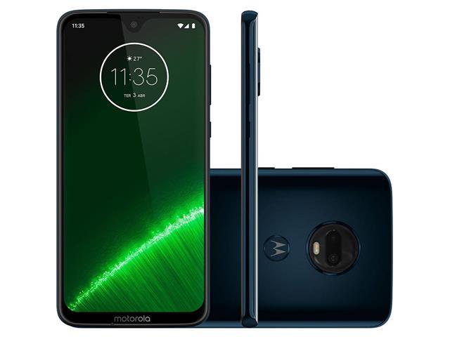 "Smartphone Motorola Moto G7 Plus 64GB Tela 6.3"" Câm 16 + 5MP 4G Indigo"