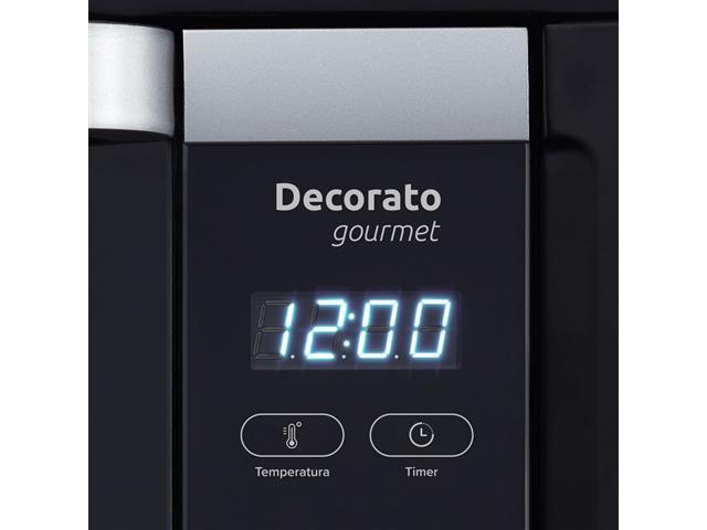 Forno Elétrico Digital de Embutir Decorato Gourmet 44 Lts Preto - 2