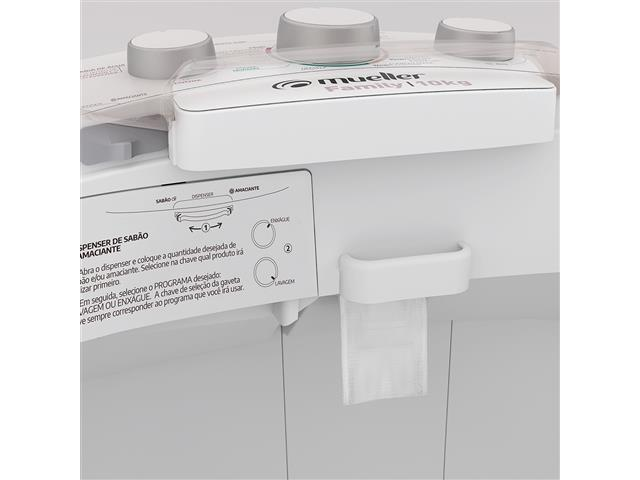 Lavadora Semiautomática Mueller Family com Aquatec Branca 10kg - 6