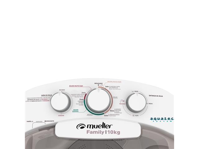 Lavadora Semiautomática Mueller Family com Aquatec Branca 10kg - 2