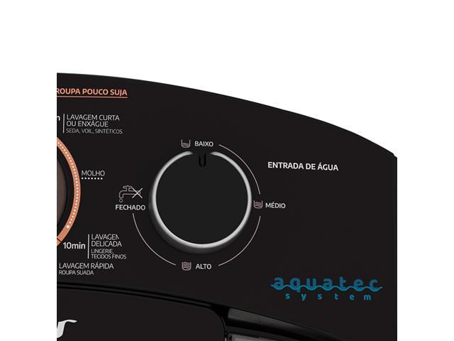 Lavadora Semiautomática Mueller Family com Aquatec Preta 10kg - 4