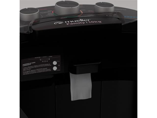 Lavadora Semiautomática Mueller Family com Aquatec Preta 10kg - 5
