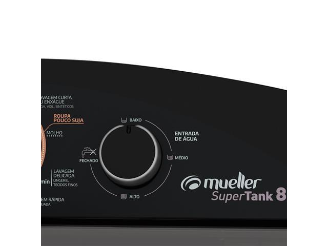 Tanquinho Mueller Supertank com Aquatec Preto 8Kg - 7