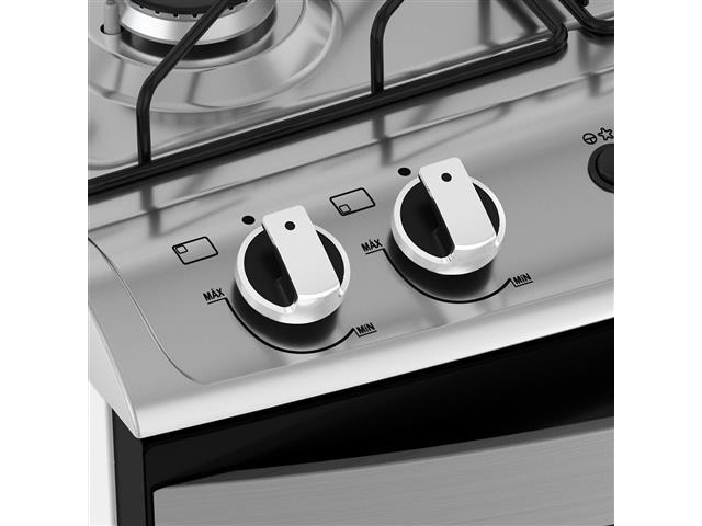 Fogão 5 Bocas Mueller Decorato Preto e Branco Bivolt - 4