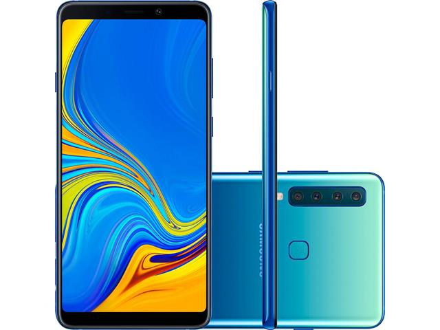 """Smartphone Samsung Galaxy A9 4G 128GB Quad Câmera 24MP Tela 6.3"""" Azul"""