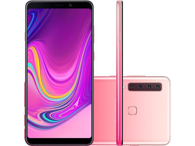 """Smartphone Samsung Galaxy A9 4G 128GB Quad Câmera 24MP Tela 6.3"""" Rosa"""