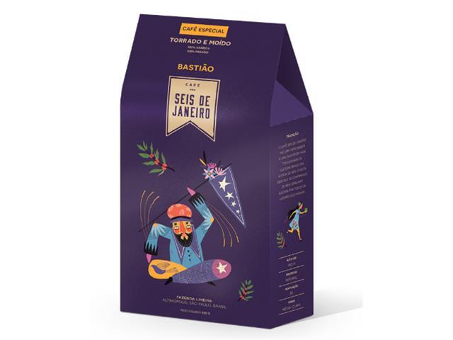 Café Bastião Torrado e moído 250g (12 unidades)