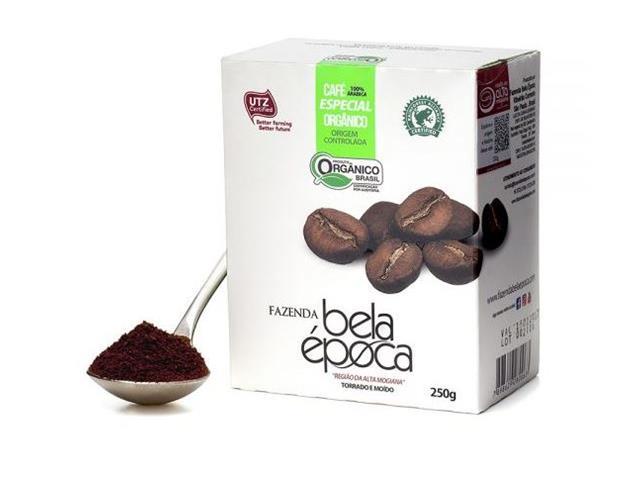 Café Orgânico Bela Época Torrado e Moído 250g (12 unidades)