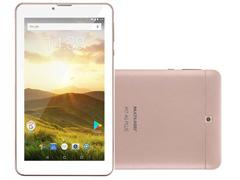 Tablet Multilaser M7 4G Plus Quad Core 1GB Ram 8GB 7 Golden Rosé