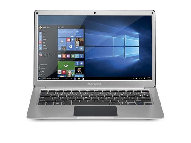 "Notebook Multilaser Legacy Windows 10 4GB RAM HD 64GB 13,3"" Prata - 0"