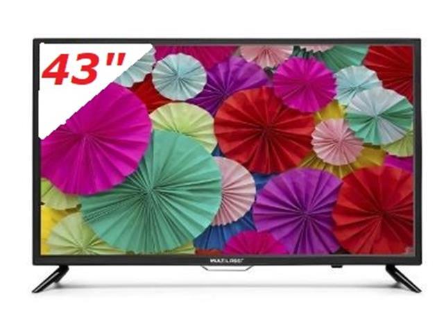 """Smart TV Multilaser Conversor Digital Wifi Integrado LED HD 43"""""""