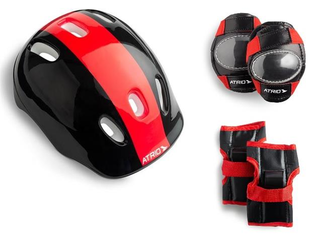 Kit de Proteção Infantil Completo Atrio Preto e Vermelho Reguláveis