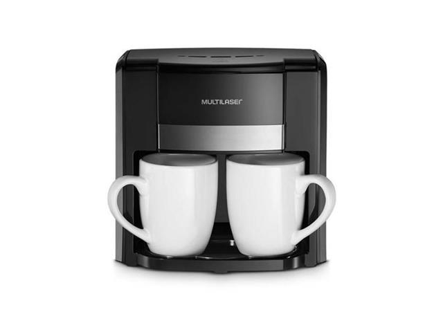 Cafeteira Elétrica 2 Xícaras Multilaser 500W Preta 220V - 1