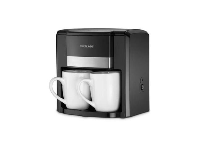 Cafeteira Elétrica 2 Xícaras Multilaser 500W Preta