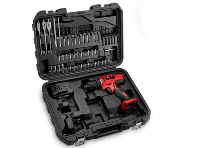 Parafusadeira e Furadeira Mondial à Bateria 12V Bivolt + 50 acessórios - 3