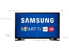 "Smart TV LED 40"" Samsung Full HD Conversor TV Digial 2 HDMI 1 USB WiFi - 3"