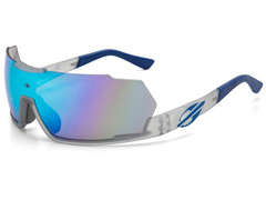e2c076021 Óculos de Sol Mormaii Predator Fumê com Lente Revo Azul Ice Espelhada