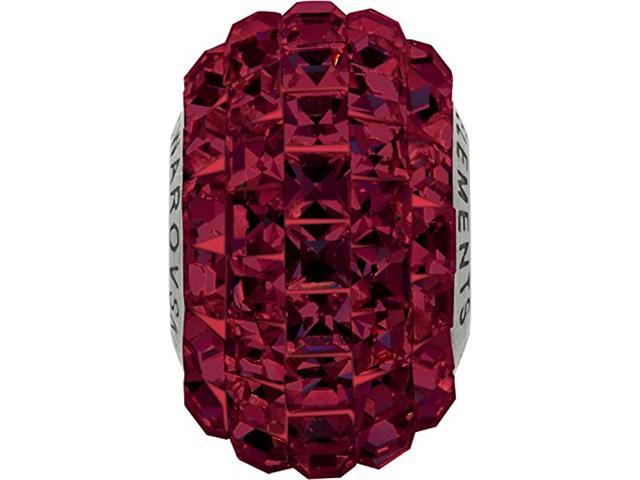 BeCharmed Pavé decorado com cristais da Swarovski® quadrado Vermelho