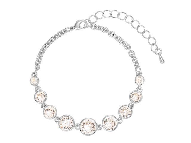 Pulseira  DSE decorada com cristais da Swarovski® 21,5 cm