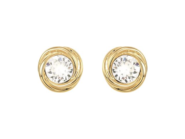 Brinco DSE decorada com cristais da Swarovski® Ponto de Luz Dourado