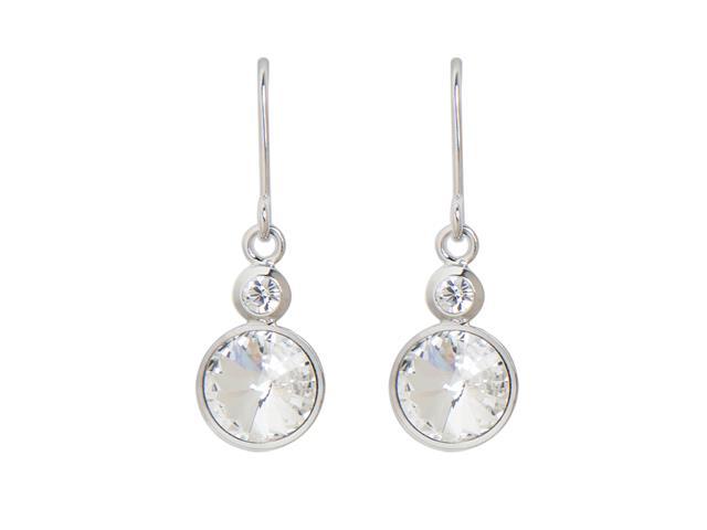 Brinco DSE decorada com cristais da Swarovski® Solitaire gêmeo