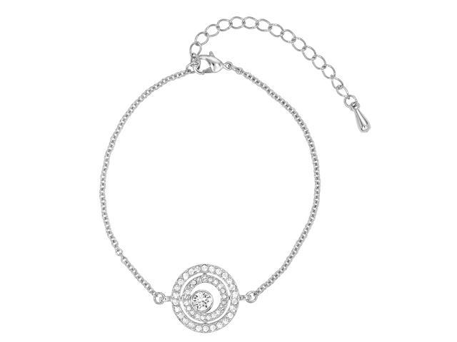 Pulseira DSE decorada com cristais da Swarovski® Círculo Pavé 22cm