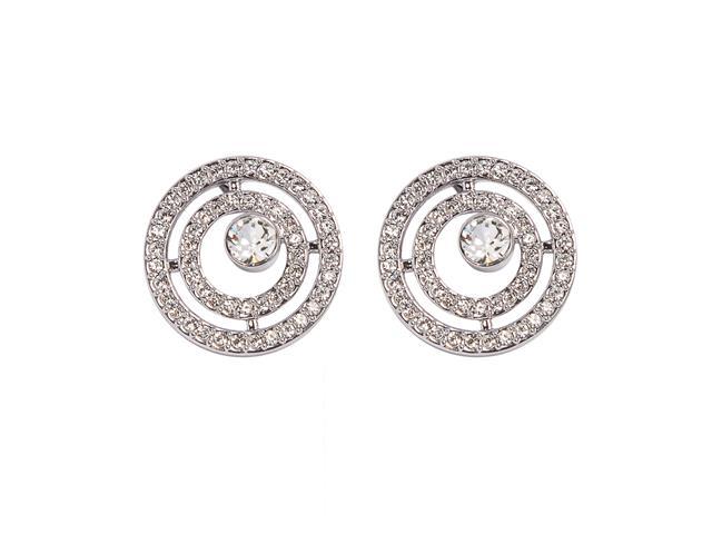 Brinco DSE decorada com cristais da Swarovski® Círculo Pavé