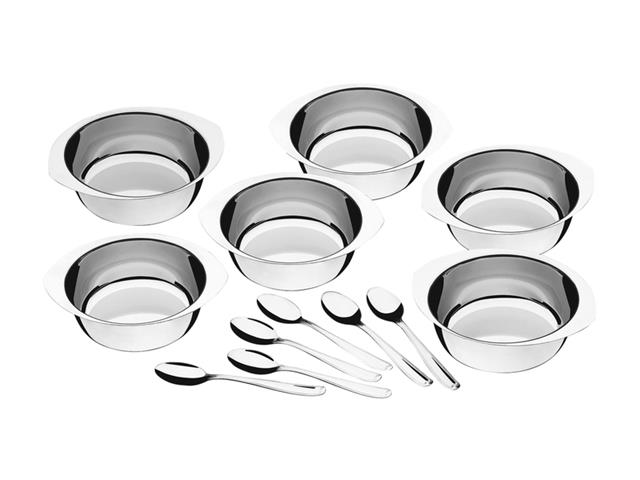 Kit para Sobremesa Tramontina em Aço Inox 12 Peças