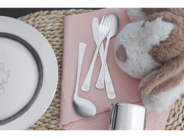 Kit Infantil para Refeição Tramontina Baby em Inox 5 Peças - 2