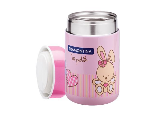 Pote Térmico Infantil Tramontina Le Petit para Alimentos Rosa 400ml - 1