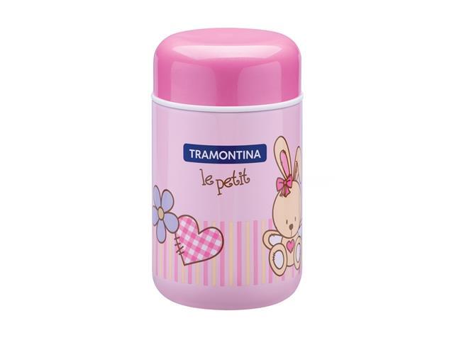 Pote Térmico Infantil Tramontina Le Petit para Alimentos Rosa 400ml