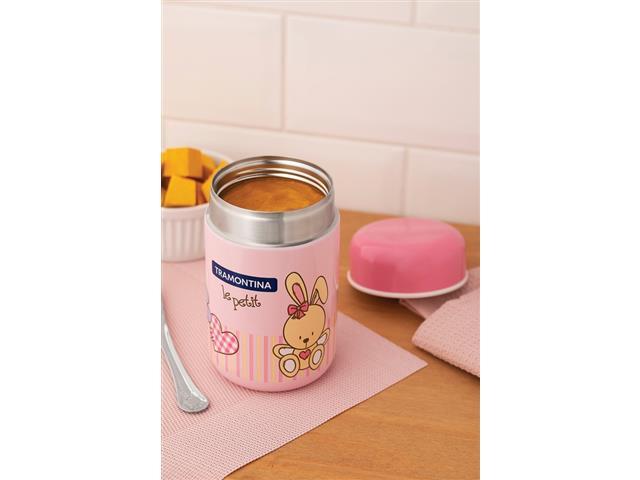 Pote Térmico Infantil Tramontina Le Petit para Alimentos Rosa 400ml - 3