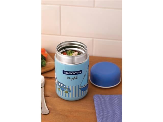 Pote Térmico Infantil Tramontina Le Petit para Alimentos Azul 400ml - 3