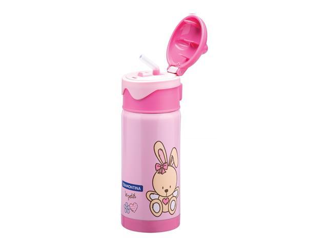 Garrafa Térmica Infantil Tramontina Le Petit  Rosa 350ml - 1