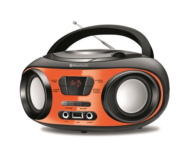 Rádio Portátil Up Bluetooth Mondial Laranja Bivolt